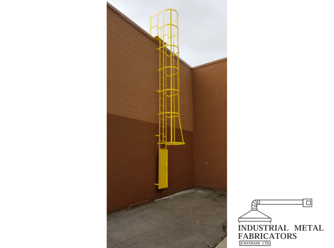 Custom Fabrication – Safety Ladder w/ Cage