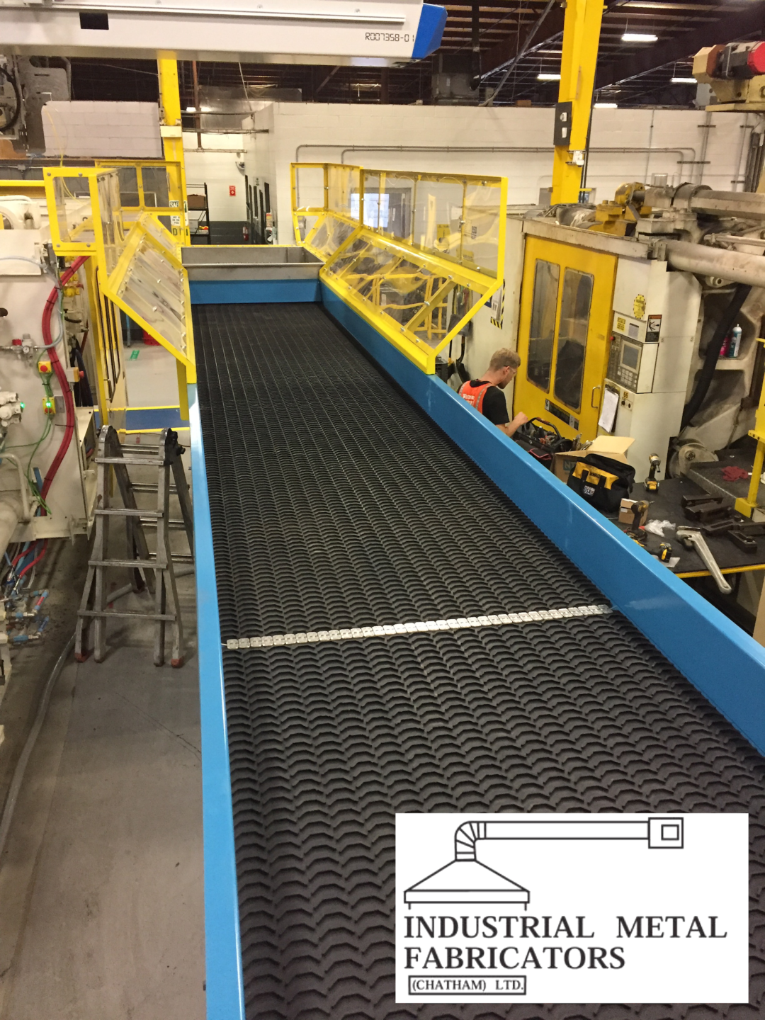 Custom Fabrication – Water Quenching Conveyor for Plastic Extrusion Components