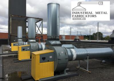Custom Fabrication – Blower Exhaust Silencers/Mufflers