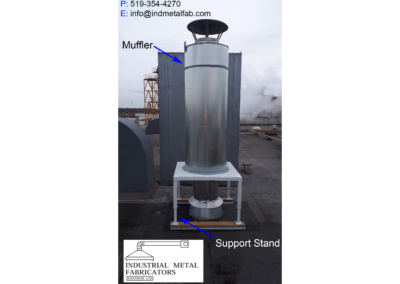 Noise Control – Muffler on Roof of Industrial Building in Urban Environment