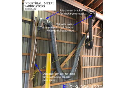 Fume Collection – Truck & Tractor Exhaust Removal While Dumping Payload in Enclosed Space